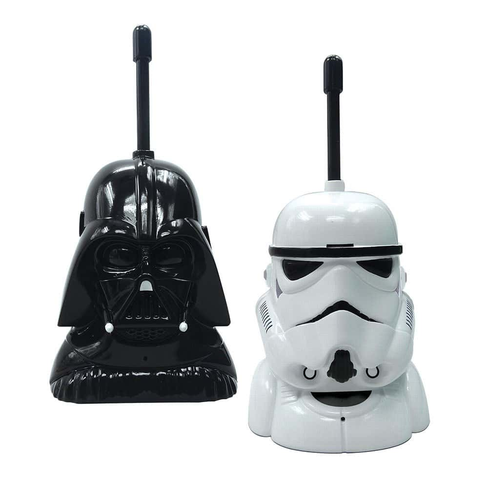 Star Wars Walkie Talkies featuring Darth Vader and a Storm Trooper