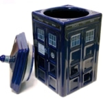 TARDIS Cookie Jar Doctor Who Ceramic Gift