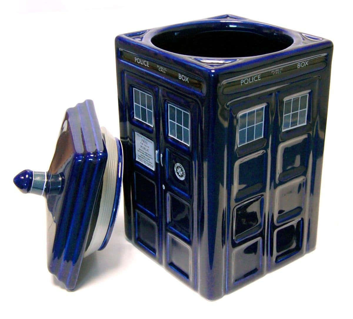 Doctor Who Ceramic Tardis Cookie Jar