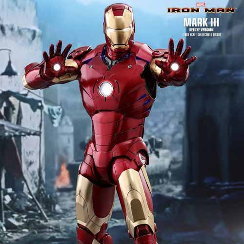 Iron Man Mark 3 Hot Toys Deluxe with LED Hands Quarter Scale