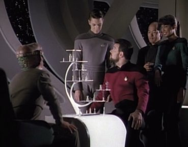 Riker Plays 3D Chess in Star Trek The Next Generation