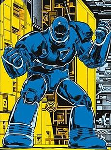 Obadiah Stane in the Iron Monger armor, artist Mark Bright