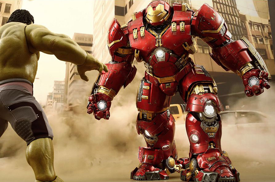 Hulk vs Hulkbuster in Age of Ultron 1/6 scale figure
