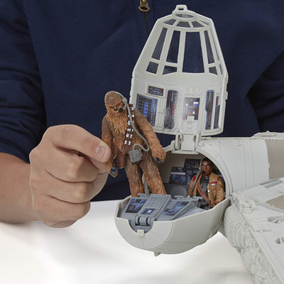 Hasbro Battle Action Millennium Falcon with Chewbacca