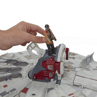Battle Action Millennium Falcon with Finn (Jakku)