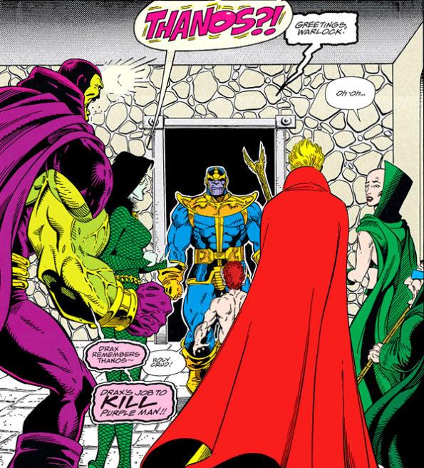 The Infinity War- Thanos Greets Adam Warlock