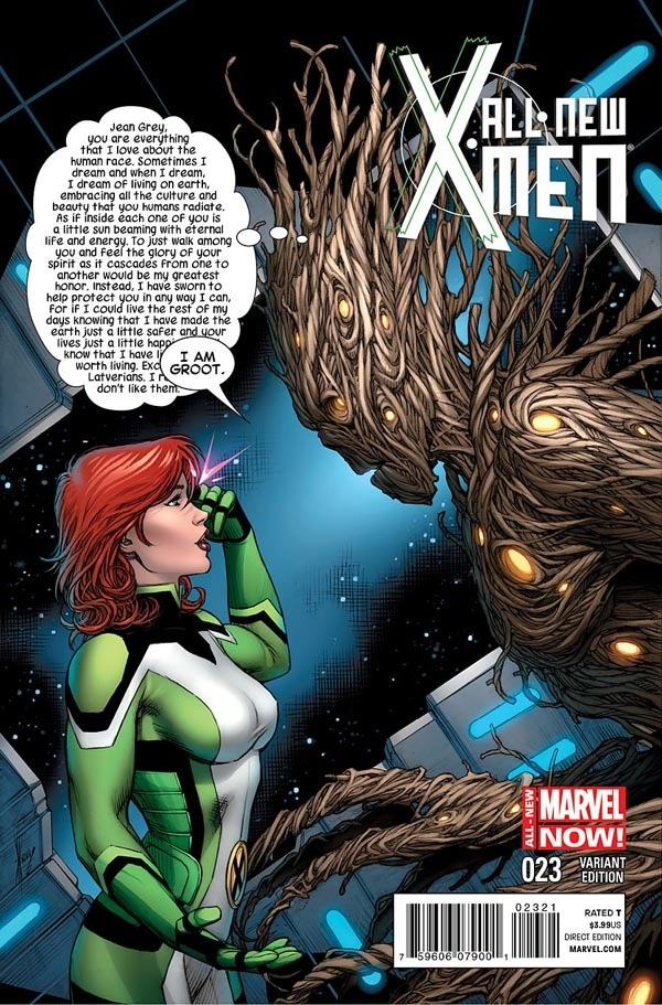 Groot in New X-Men #23 is Translated by Jean Grey