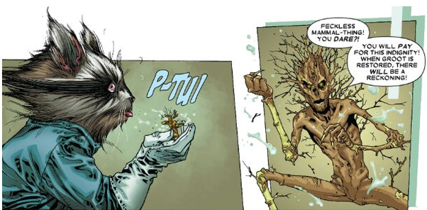 Groot and Rocket in Annihilation Conquest: Star-Lord
