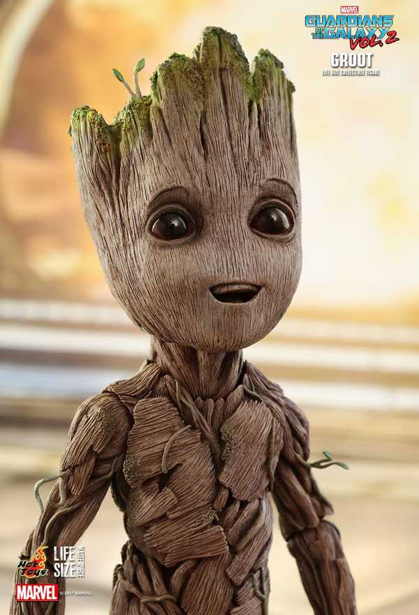 26cm tall  Baby Groot figure from Hot Toys. Guardians of the Galaxy Vol.2 full size replica.