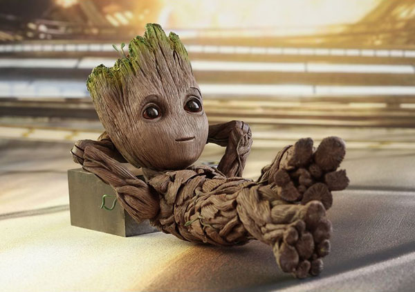 Detailed likeness of Groot in Marvel Studios' Guardians of the Galaxy Vol. 2