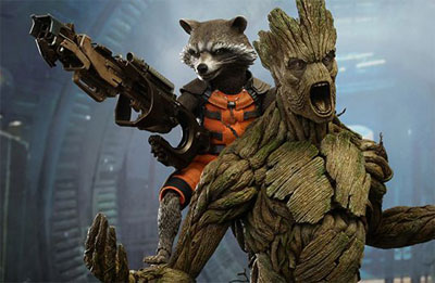Hot Toys Groot and Rocket 1/6 Scale Figure