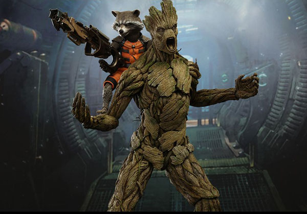 Hot Toys Groot and Rocket from Infinity War 1/6 scale figure