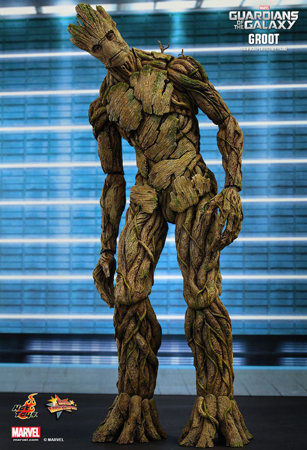 Groot Guardians Of The Galaxy Hot Toys 1/6 Scale Figure