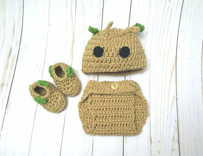 I am Groot Coming Home Outfit for Newborn Baby