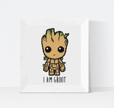 I Am Groot Cross Stitch Pattern