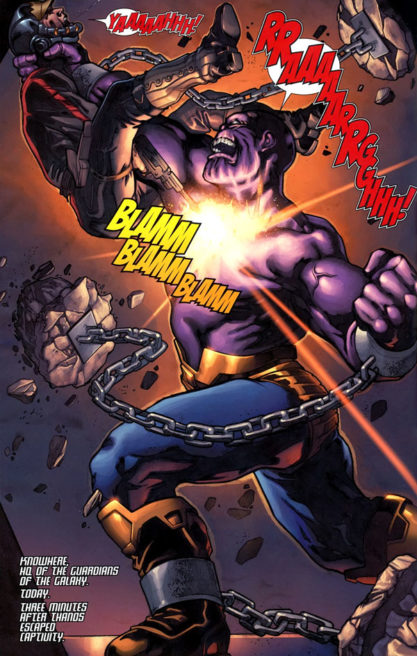 The Thanos Imperative : Thanos Escapes the Prison of Star Lord