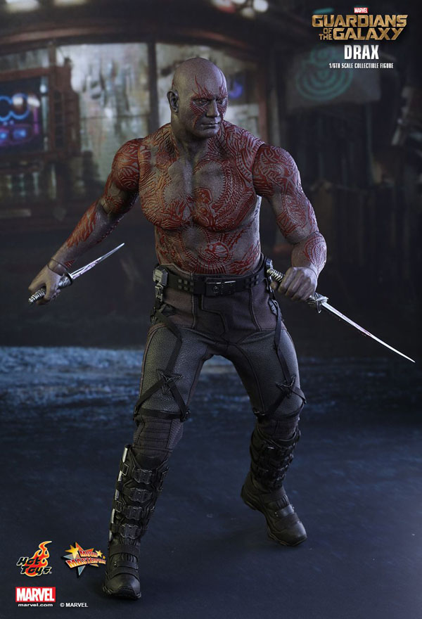 Drax The Destroyer Action Pose Hot Toys Guardians of the Galaxy