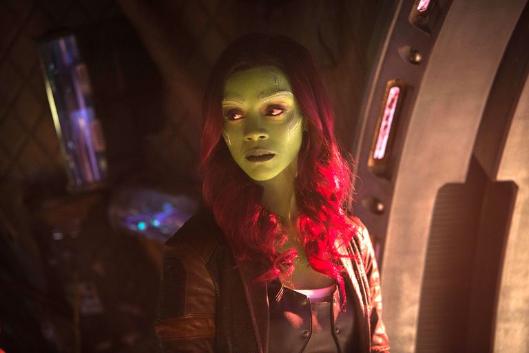 Gamora in Infinity War played by Zoe Saldana- Disney