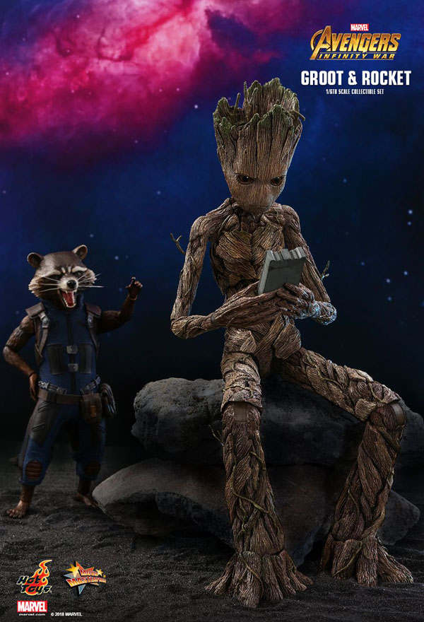 Groot and Rocket Hot Toys 1/6 Scale Figure