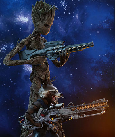 Rocket Racoon and Groot Infinity War Hot Toys