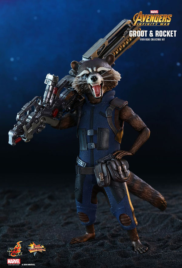 1/6 Scale Rocket Racoon  Figure from Avengers: Infinity War