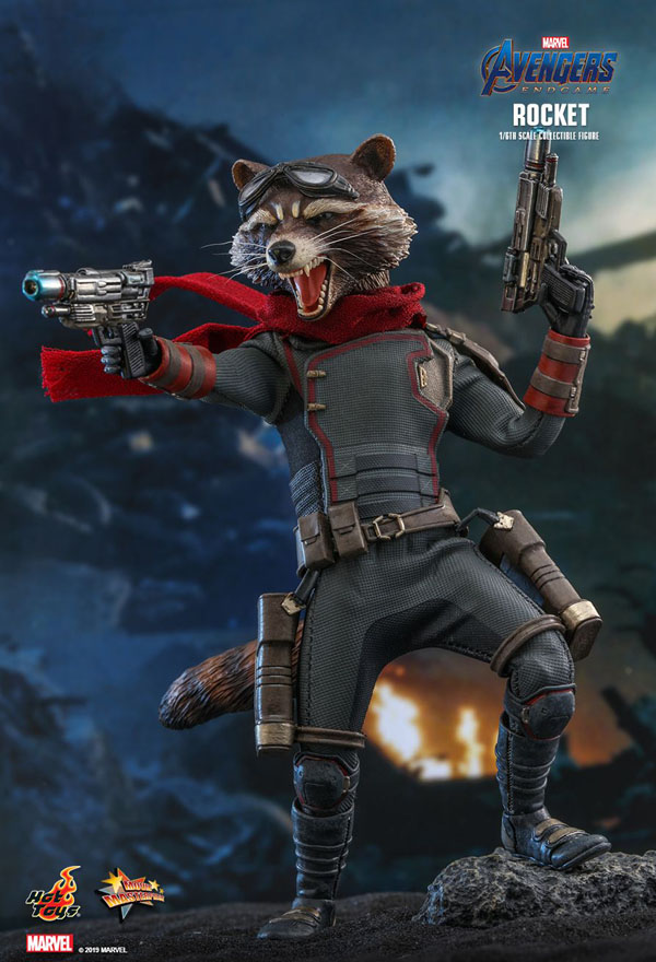 Rocket Racoon Endgame Hot Toys 1/6 Scale Figure
