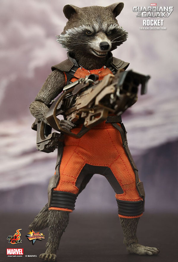Rocket Racoon Guardians of the Galaxy Hot Toys 1/6 Scale Figure