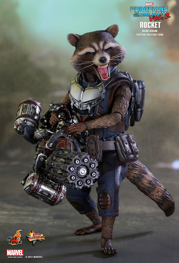 Rocket Racoon Hot Toys Guardians of the Galaxy Vol 2 Hot Toys 1/6 Scale Figure