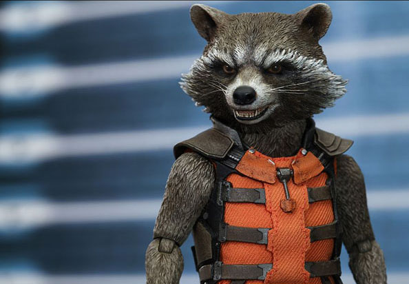 Hot Toys Rocket Racoon 1/6 Scale figure from Guardians of the Galaxy