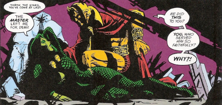 Gamora near to death saved by Warlock
