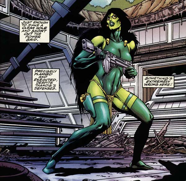 Gamora and the Thanosi in Infinity Abyss by Marvel Comics