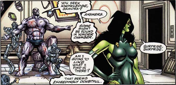 Thanos shows Gamora the Chamber of his Experiments