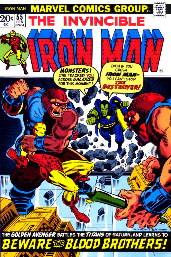 First Appearance of Thanos And Drax The Destroyer in Marvel Comics Iron Man v1 #55