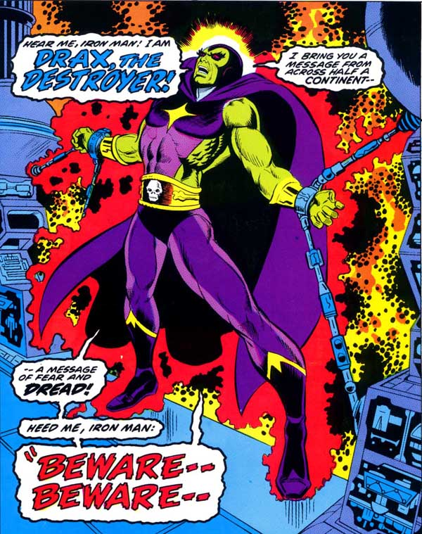 First Appearance of Drax The Destroyer