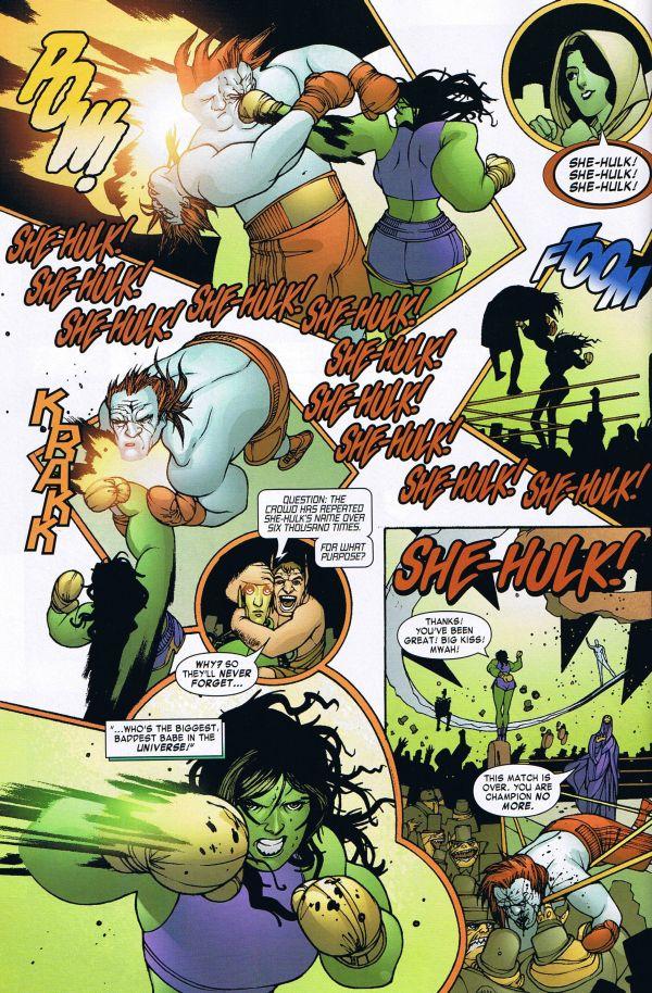 She Hulk Defeats the Champion of the Universe