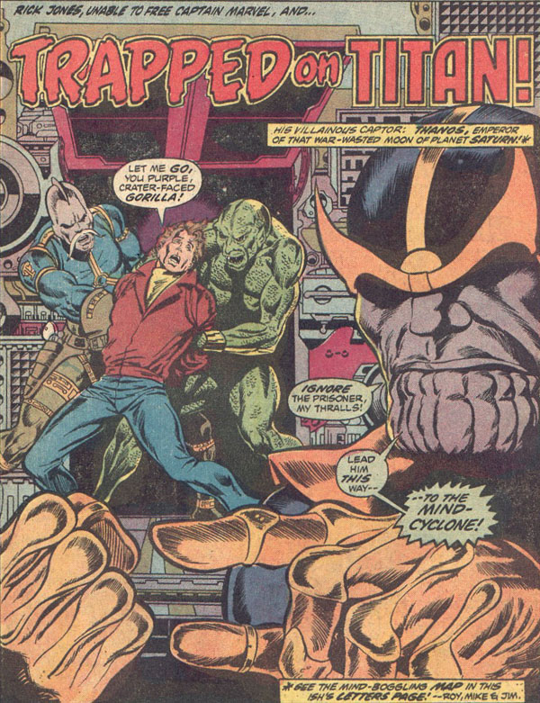 Thanos Holds Rick Jones Captive