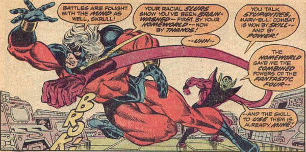 Captain Marvel finds Super Skrull