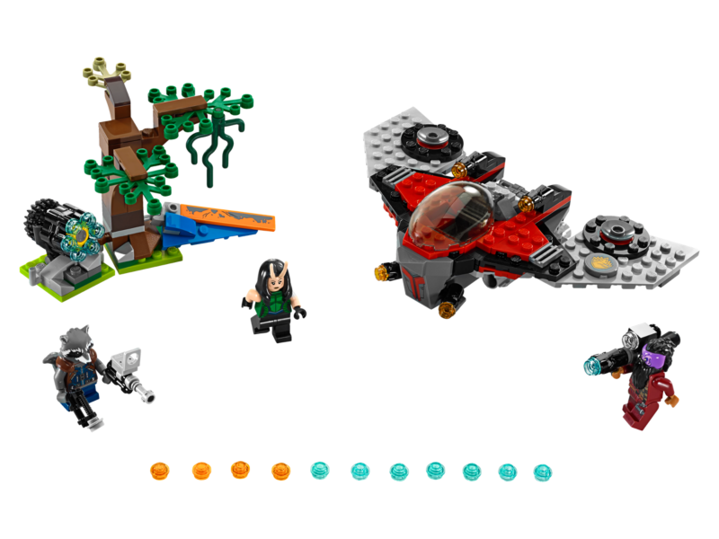 Lego Guardians of the Galaxy Vol 2 - Ravager Attack - LEGO Marvel Super Heroes 76079 - Includes three minifigures: Mantis, Rocket and Taserface.