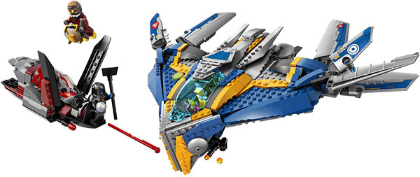 Guardians of the Galaxy Lego Set 76021 - The Milano Spaceship Rescue - Star-Lord, Gamora, Drax the Destroyer, Ronan the Accuser, and a Sakaaran Soldier