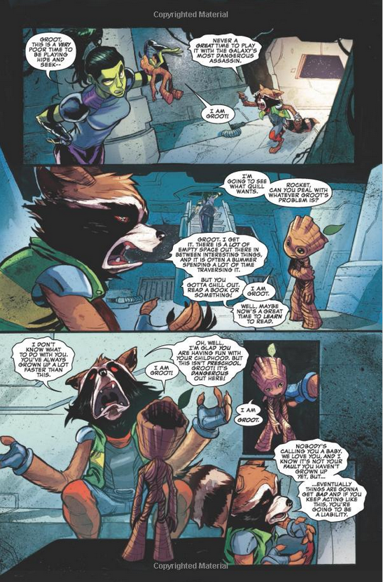 Rocket, Gamora in I Am Groot Comic Book issue 1