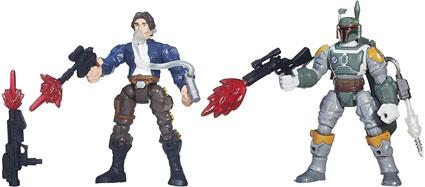 Han Solo vs. Boba Fett Star Wars Mashers Battle Packs by Hasbro