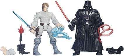 Luke Skywalker vs. Darth Vader Star Wars Mashers Battle Packs by Hasbro