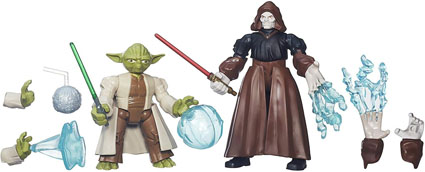 Yoda vs. Emperor Palpatine Star Wars Mashers Battle Packs by Hasbro