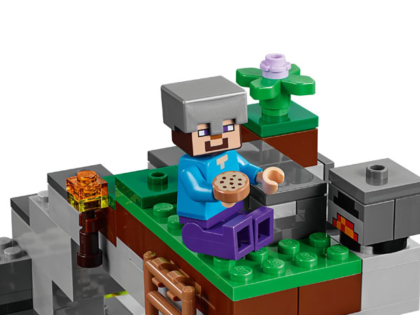 Minecraft minifigure Steve with a cookie
