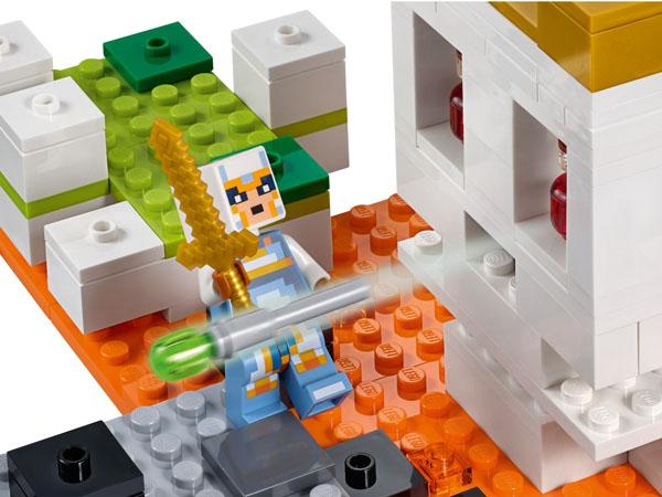 Lego Minecraft set 21145 - Flick Missile Shooter That Fires A Slime Missile Element