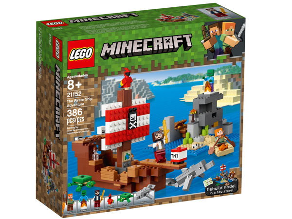 LEGO 21152 Minecraft The Pirate Ship Adventure Box Packaging