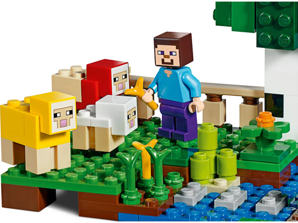 Minecraft Steve Playing on The Wool Farm
