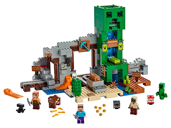 The Creeper Mine 21155 is built with over 830 pieces