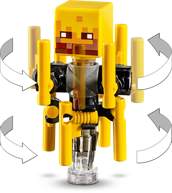 Spinning LEGO Minecraft Blaze Figure