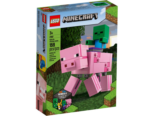 LEGO 21157 Minecraft BigFig Pig with Baby Zombie Box